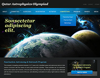 Qatar Astrophysics Olympiad Website Design