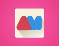 Alpha Match Flat Icon Design