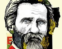 Giuseppe Verdi Collage Poster