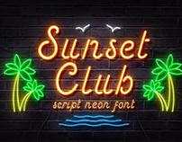 Sunset Club – Script Neon Font