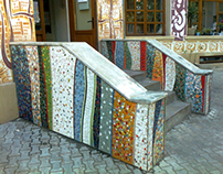 UNArte mosaic - Railing and stair
