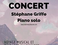 Affiche et Flyer pour Concert Piano Solo