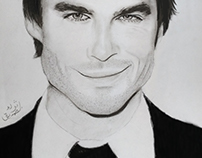 drawing ian somerhalder
