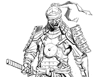Mortal Kombat X - Kenshi Ronin & Tremor design sketches