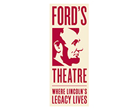 Brand identity for the Ford's Theatre in Washington DC.