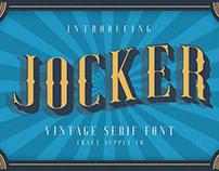 Jocker - Vintage Serif Font Family (Free Download)