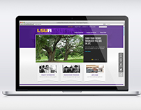 LSUA: Mobile Website, Landing Page 2016