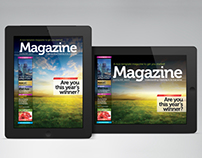iPad/Tablet Magazine InDesign Layout 01