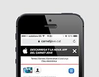 UI/UX Landing Page Carnet Jove