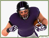 3D Model: White American Football 010