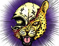 leopardo skull