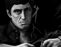 Scarface - Al Pacino / Digital painting