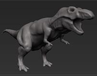 T-Rex 1 - sculp.