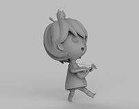 Ukelele girl (WIP)