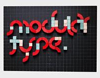 Modular Type • Experimental Typeface