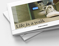 Photography book Life is a walk