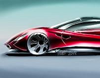 Supercar concept sketch