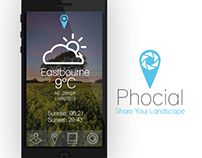 Phocial - Concept App for Landscape Photographers