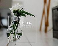 BETA lightbulb vase