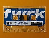 Retro Cassette Tape Photoshop Mockup