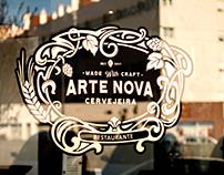 Art nouveau restaurant logo.