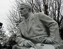 Adalbert Erdelyi (famous painter), granite, 2017