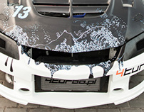 Synkro Livery for Mitsubishi Lancer Evo IX