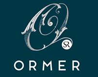 Ormer Restaurant. Brand logo & identity.