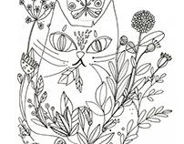 Ilustración para libro para colorear  - 2016