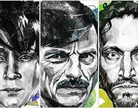 portraits. famous.