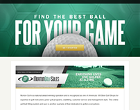 Morton Golf - Golf Ball Fitting System