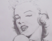 Marilyn Monroe Freehand