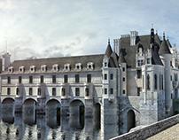 Château de Chenonceau High-Poly 3D Modeling