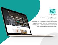 Tetstone (gypsum 3D boards) Website