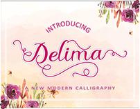 Delima-Script Font