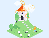 Animated Windmill with Code | SVG Animation