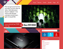 Bloggani, Joomla Metro Style Blogging Template