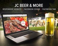 JC Beer - Responsive website, facebook tab & cover
