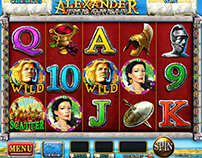 DISEÑO/ ILUSTRACIÓN  Slot Game - Alexander The Great