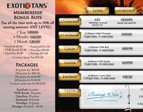 Exotic Tan Advertisements