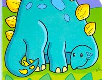 """""""Dinosaur"""" three button sound book"""
