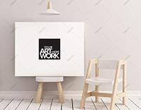 Canvas Poster Mockup Nursery Minimalistic - Landscape