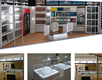 Store - 3Ds Max render and installation photos