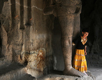 from between the stone feet of shiva - images of India