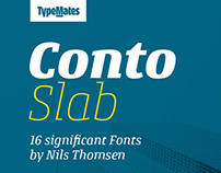 Conto Slab / a significant corporate font