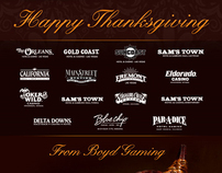 Boyd Gaming Thanksgiving Email