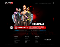 Echoo - website concept