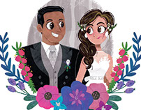 Wedding illustrations- paper cut