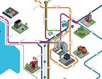Information Design | Minibus Stop Map