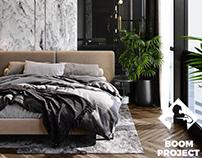Bedroom in GRAF apartment